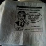 Advice napkins