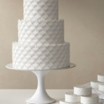 Food: Geometric Wedding Cake
