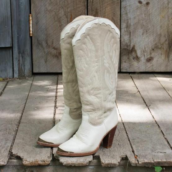 White-Vintage-Cowboy-Boots