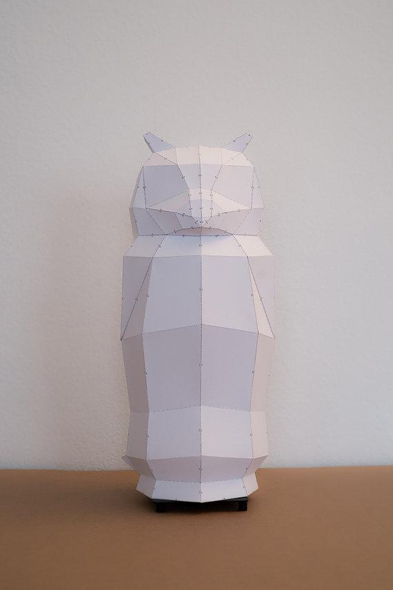 owl lamp paper