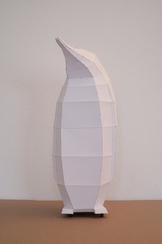 penguin lamp paper