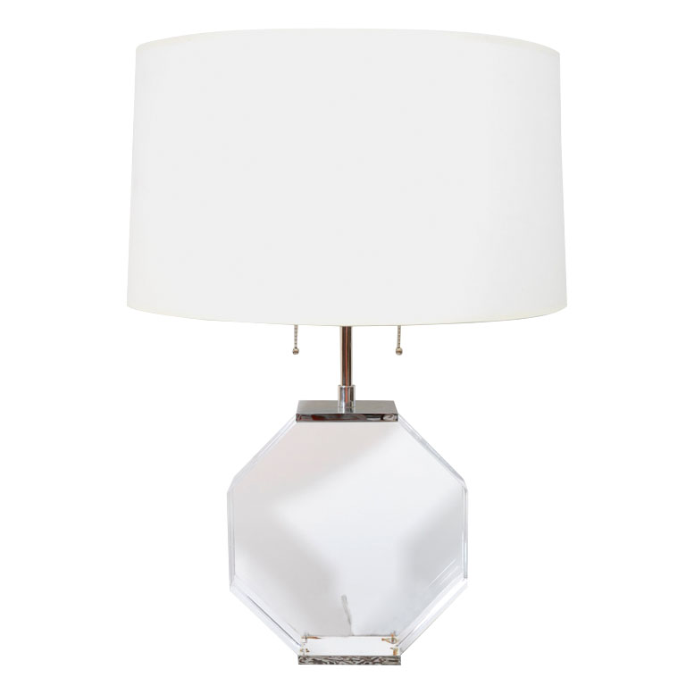 octagonal-lucite-table-lamp