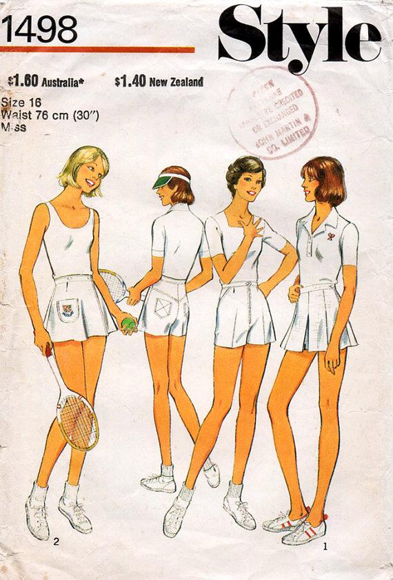 tennis dress pattern 1978