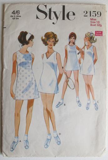 tennis dress pattern_1968