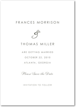 Guest Post Save the Date from Wedding Paper DivasWhite Cabana