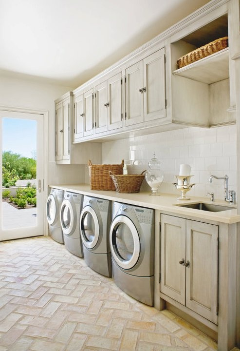 Interiors laundry room designwhite cabana white cabana for House plans with large laundry room