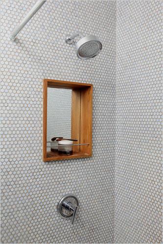 Penny Tile Shower Bathroom
