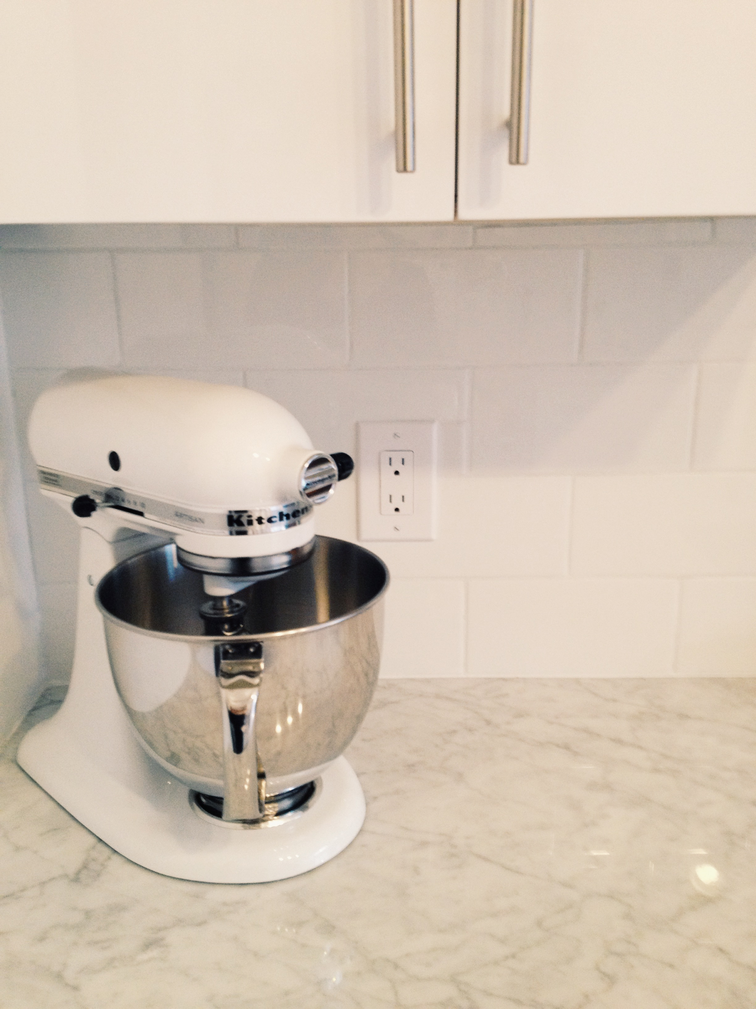 In the Kitchen: The KitchenAid Artisan Stand MixerWhite Cabana ...