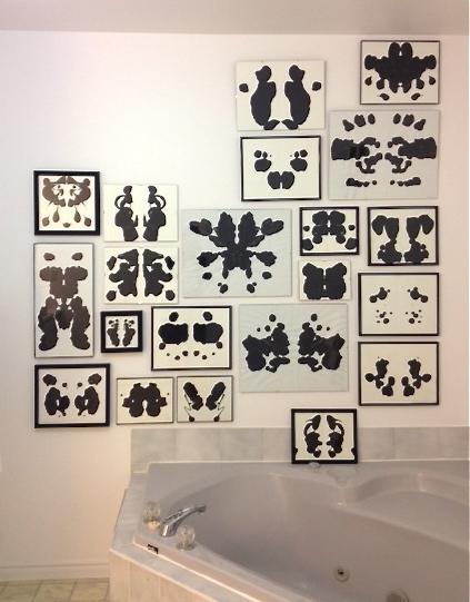 Diy How To Make An Inkblot Gallery Wallwhite Cabana