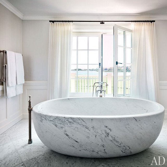 Interiors marble bathtubs white cabana white cabana for Free standing bath tubs for sale