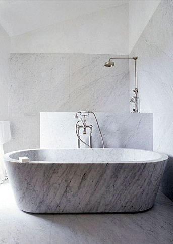 Interiors: Marble Bathtubs