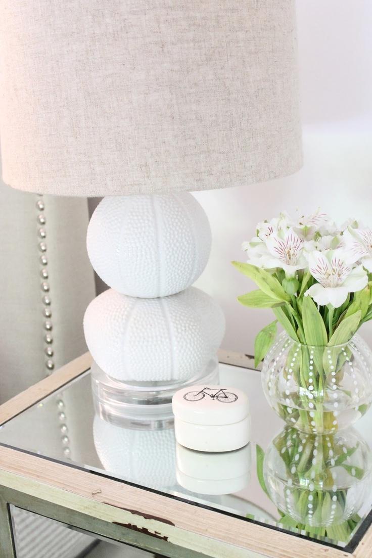 Design the sea urchinwhite cabana white cabana for Bed table decoration