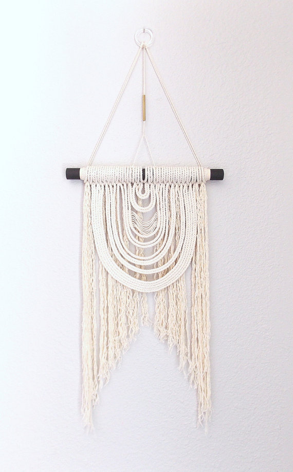 The Friday Five Woven Wall Hangingswhite Cabana White