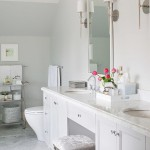 The Friday Five: Marble Herringbone Tiles in the Bathroom