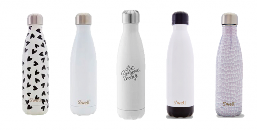 Swell Water Bottles-white