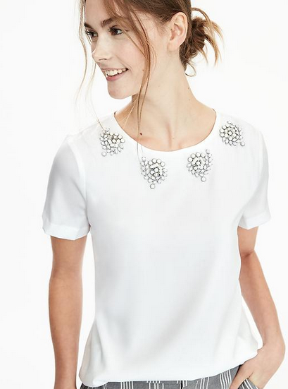 banana-republic-white-embellished-tee