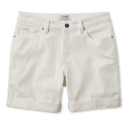 llbean-white-jean-shorts