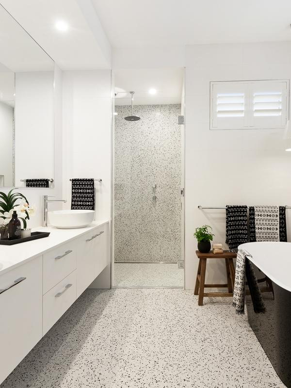 Here Are Five Gorgeous Spaces That Use Black And White Terrazzo